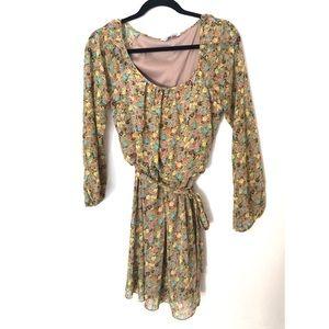 Speechless Floral Print Dress